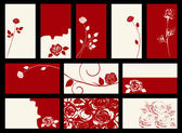 Card - vector collection with roses