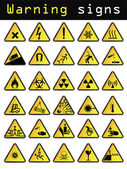Vector warning icons