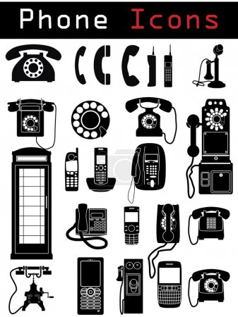 Photo for Phone Icon silhouettes - Royalty Free Image