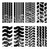 Truck tyre tracks