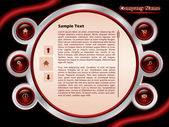 Red web template