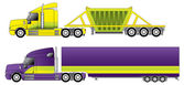 Conventional trucks with reefer and dump