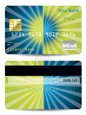 Halftone with burst credit card