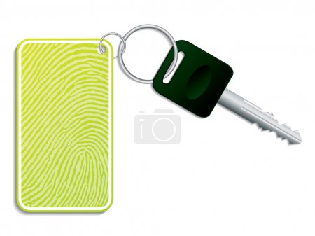 Key with fingerprint access