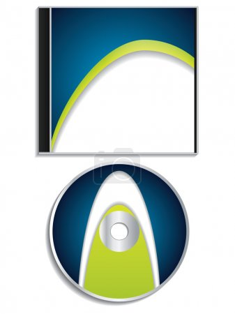 Blue cd and case design