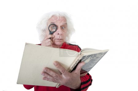 Photo for Man reading a book - Royalty Free Image