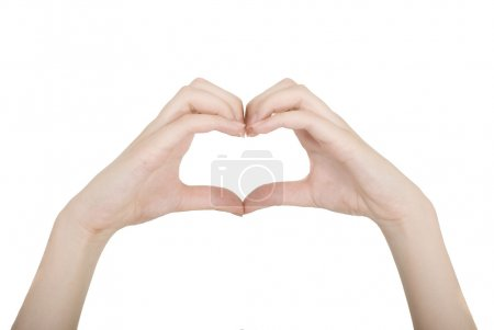 Photo for Heart made of finger - Royalty Free Image