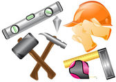 Vector illustration with different tools