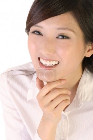 Photo for Happy business woman portrait of Asian with smile expression. - Royalty Free Image