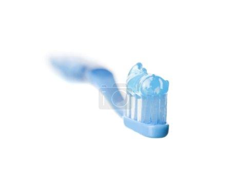 Photo pour Brosse à dents bleue - image libre de droit