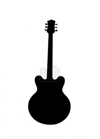 Photo pour Silhouette de guitare - image libre de droit