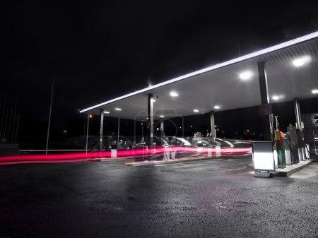 Photo for Petrolstation at night - Royalty Free Image