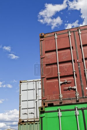 Photo for Cargo Containers in front of blue sky - Royalty Free Image