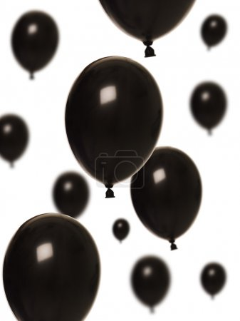 Photo for Black balloons isolated on white background - Royalty Free Image