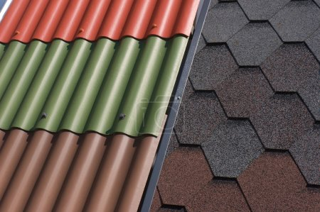 Various roof tiles