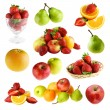 Fruits isolated on a white background...