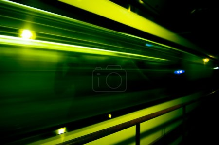 Abstract of fast train passing by