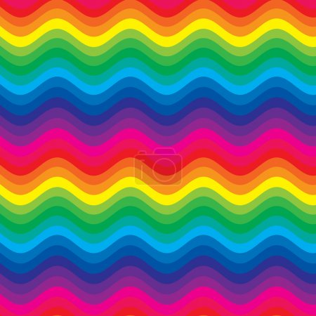Colorful rainbow waves