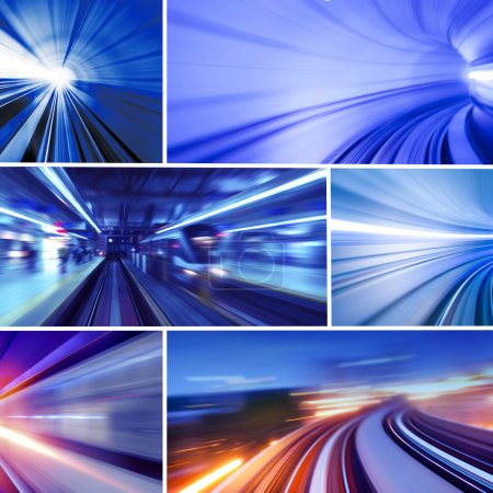 Photo pour Collage de la photo concept de transport. Toutes les photos m'appartiennent. . - image libre de droit