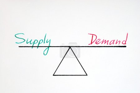 Supply and demand at equilibrium