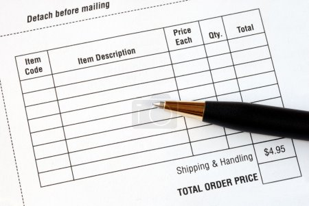 Photo pour Renseignez les points d'achat en un bon de commande - image libre de droit