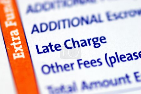 Focus on the Late Charge item in a mortgage paymen...