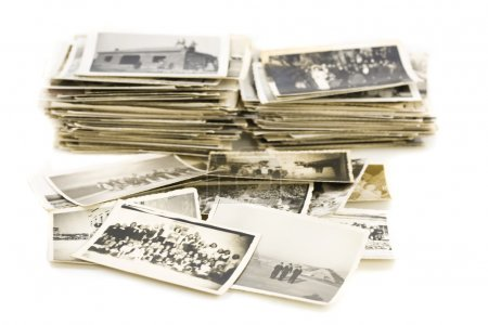 Photo for Pile of vintage photos - Royalty Free Image