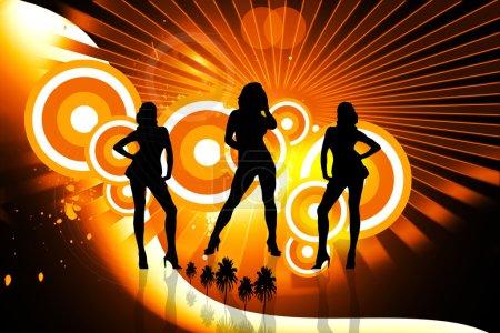 Photo pour Danseuse dans l'arrière-plan de couleur - image libre de droit