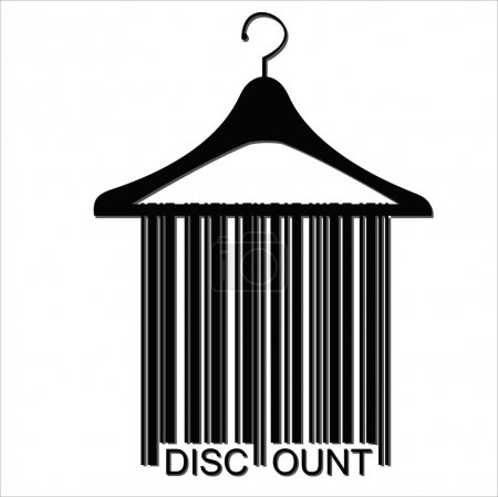 DISCOUNT barcode clothes hanger