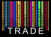 Colorful trade text barcode vector