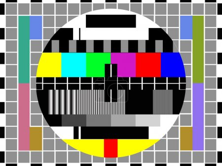Modern LCD TV set , vector
