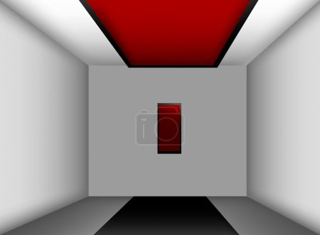 Illustration for Empty room with picture, vector - Royalty Free Image