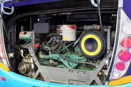 Bus engine angle