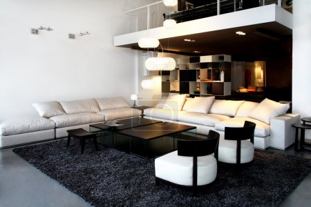 Photo for Interior shot of loft space in living room - Royalty Free Image