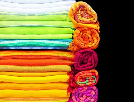 Photo for Close up shot of various colorful textile - Royalty Free Image