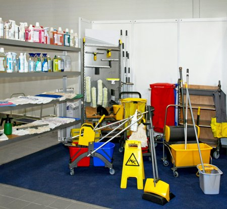 Photo for Bunch of professional cleaning equipment tools - Royalty Free Image