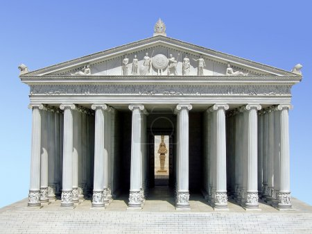 Photo for Ancient Greek Parthenon temple on the Acropolis - Royalty Free Image