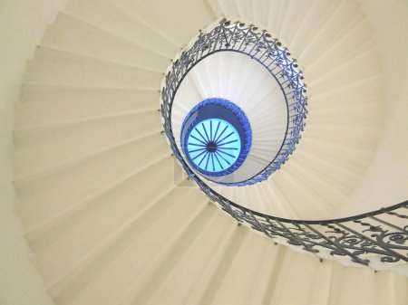 Photo for Very old spiral stairway case from below - Royalty Free Image