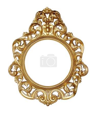 Photo pour Cadre photo baroque de mettre vos propres images. - image libre de droit