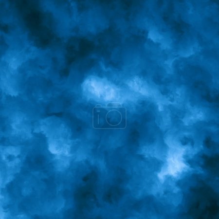 Abstract Blue Cloud Background