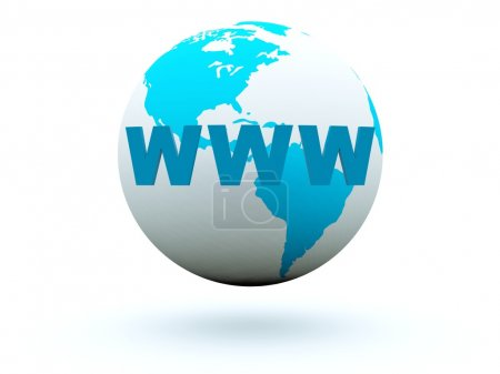 World wide web on earth background
