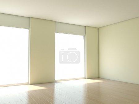 Photo pour Appartement vide avec des murs blancs - image libre de droit