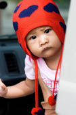 Cute baby with curious look