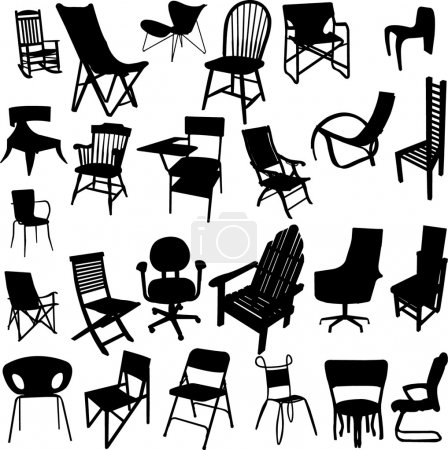 Illustration for Chair collection - vector - Royalty Free Image