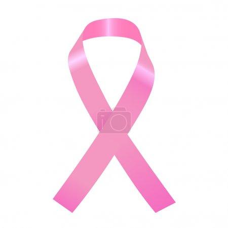 Pink Ribbon Illustration