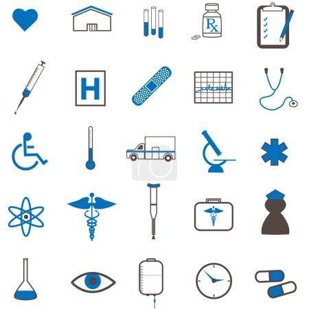 Illustration pour Image de diverses icônes médicales . - image libre de droit