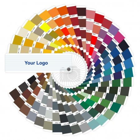 Illustration for Colour card - Royalty Free Image