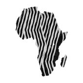 African Continent Map Made of Zebra Fur