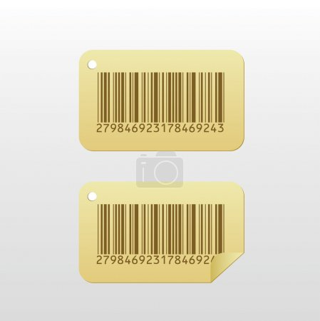 Photo for Bar code paper sticker, high quality illustration. - Royalty Free Image