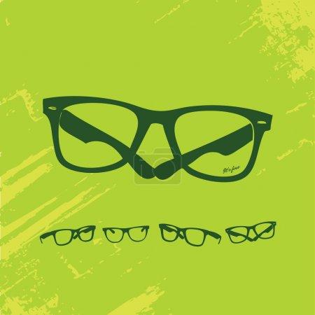 Photo for Hip Glasses Set on Grunge Background - Royalty Free Image